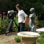Cara Weatherley checks the camera angle.