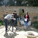 Jono Cary (sound) Vicky Ashford (clapper board) and Cara Weatherley (camera).