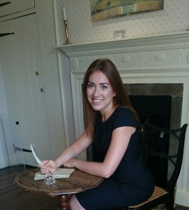 Jane Austen's Writing Desk at Chawton Cottage, Sanditon, Amy as Charlotte