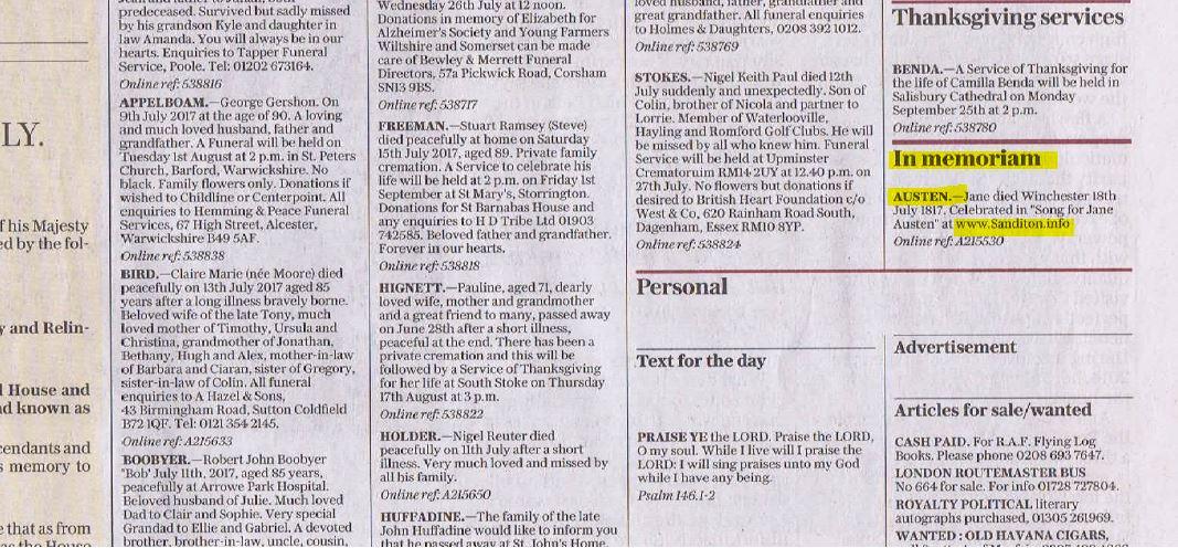 telegraph advert